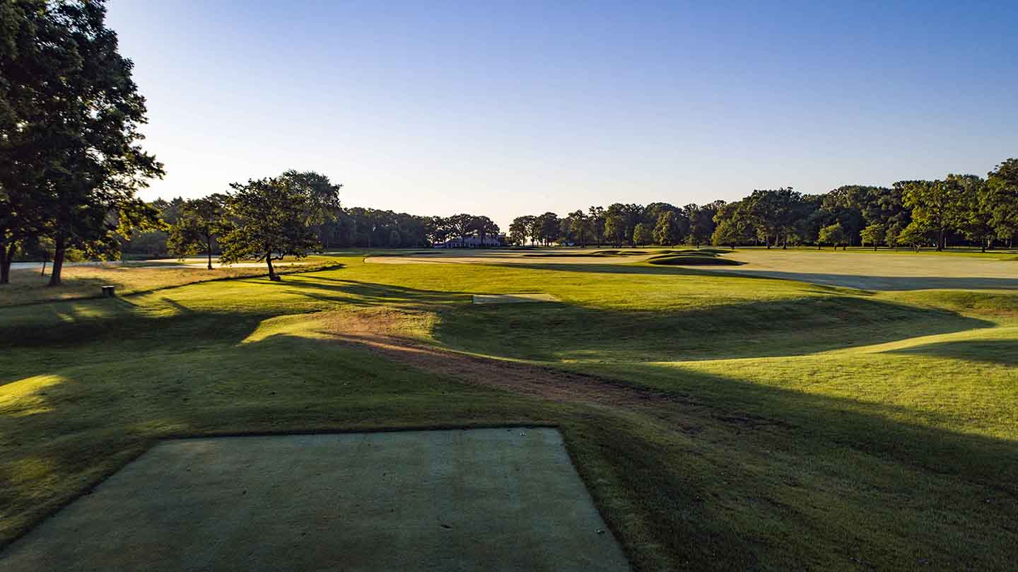The 9th tee at Shoreacres